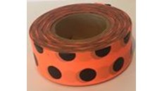 Picture of Flagging tape - polka dot orange