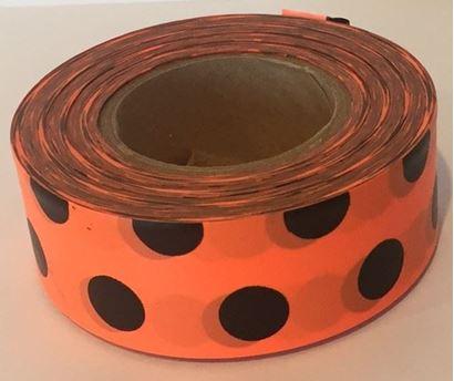 Picture of Flagging tape - polka dot orange