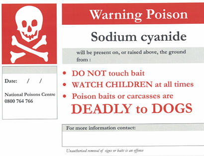 Picture of Warning sign - cyanide (PFS1002)